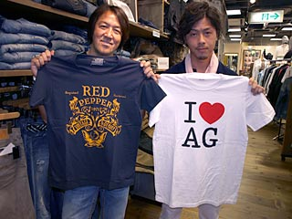 RED PEPPER、AGのTシャツ